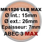 Roulement MR1526 LLB MAX 15x26x7