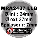Roulement MRA2437 LLB 24x37x7 ABEC5 Contact Oblique