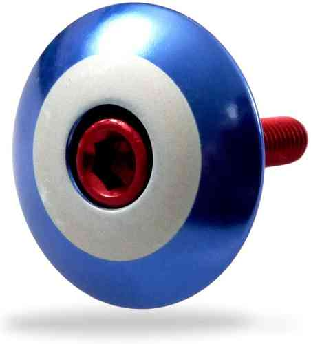 """Roundel - Blue"" Stem Cap"