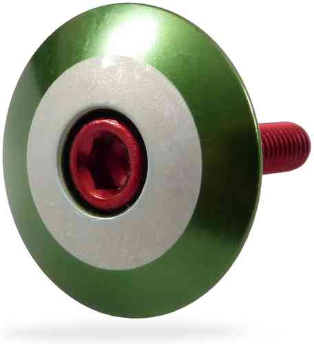 """Roundel - Green"" Stem Cap"