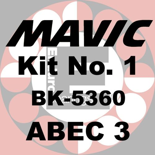 Kit de roulements MAVIC No.1 ABEC 3 - BK-5360