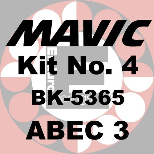 Kit de roulements MAVIC No.4 ABEC 3 - BK-5365