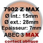 Roulement 7902 Z MAX 15x28x7 contact oblique Graissable d'un côté pour Santa Cruz, Intense