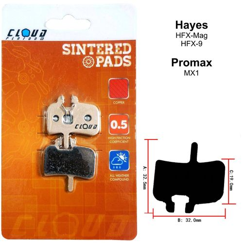 CLOUD Disc brake pads BP-01S Metal