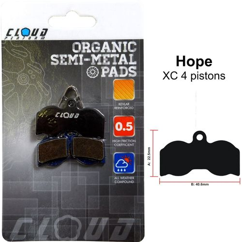 CLOUD Disc brake pads BP-24 Semi metal