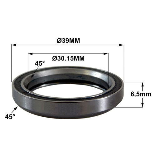 MH-P04 (TH-870G) 30.15 x 39 x 6.5 (45°x45°) Bearing